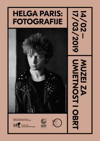 "14.02.-17.03.2019  ""Helga Paris - Photographs""  MUSEUM OF ART AND CRAFTS,  ZAGREB (HR)  Exhibition by ifa-Institut (GER) with Goethe-Institut Zagreb (HR)  Curated by Inka Schube, co-curated, introduction, guided tour, discussion by Franziska Schmidt  Image:"
